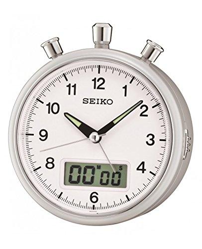 Seiko Stylish Silver finish Clock Beep Alarm Chronograph