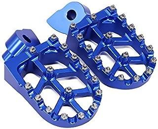 JFGRACING CNC Foot Pegs Rest Pedal Footpegs - Yamaha YZ65 2018 / YZ85 02-19 / YZ125 97-17 / YZ250 98-19 / YZ250F 01-19 / YZ426F 00-02 / YZ450F YZ125X YZ250X YZ250FX YZ450FX WR250F WR400F WR426F WR450F
