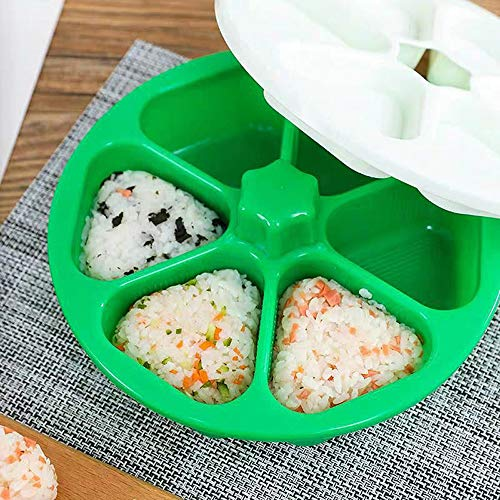 JFZ Sushi-Form für Onigiri, Dreieck Onigiri Formen, Reis Ball DIY Tools Reisball