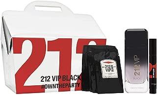 212 VIP BLACK 3Pc Gift Set Perfume for Men [3.4oz EDP Spray]