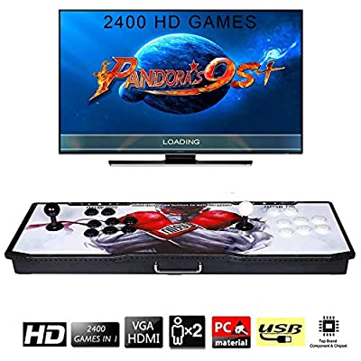 ?2400 Games in 1? Arcade Game Console Ultra Slim Metal Double Stick 2400 Classic Arcade Game Machine 2 Players Pandoras Box 9S 1280X720 Full HD Video Game Console for Computer & Projector & TV from TanDer