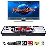 【2400 Games in 1】 Arcade Game Console Ultra Slim Metal Double Stick 2400 Classic Arcade 2 Players Pandoras Box 9S 1280X720 Full HD Video Game Console for Computer & Projector & TV