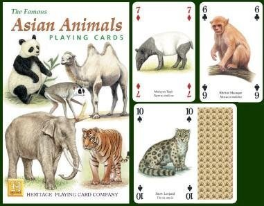 Asian Animals Playing Cards by Heritage Playing Card Company
