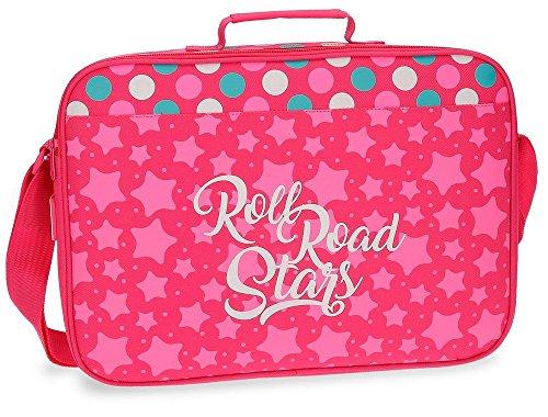 Roll Road Stars Mochila Escolar, 38 cm, 6.38 litros, Rosa