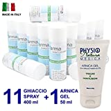 11 Ghiaccio Spray FARMA Ice Sport 400 ml + 1 Tubetto Arnica Gel...