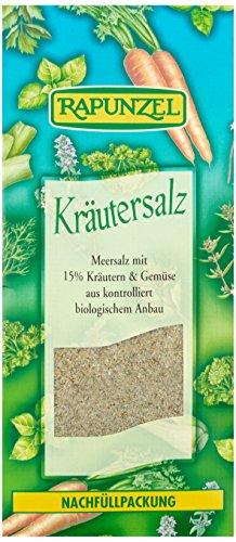 Rapunzel Kräutersalz mit 15{cd0a2e843baa4436d517e3aa1a96fe7cd4c63d612c6cbd5165a7f42d69c4e229} Kräutern und Gemüse, 1er Pack (1 x 500 g) - Bio