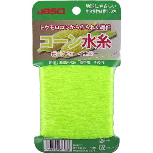 JBSO (ジェビソー) コーン糸 イエロー 100m G-25003