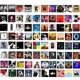 80 Pcs Print Album Covers | Unique Square Printed Photos 4x4 inch | Album Cover Posters Collage Kit | Music Posters for Room Aesthetic | Aesthetic Poster | Poster Pack | Album Cover Art Posters