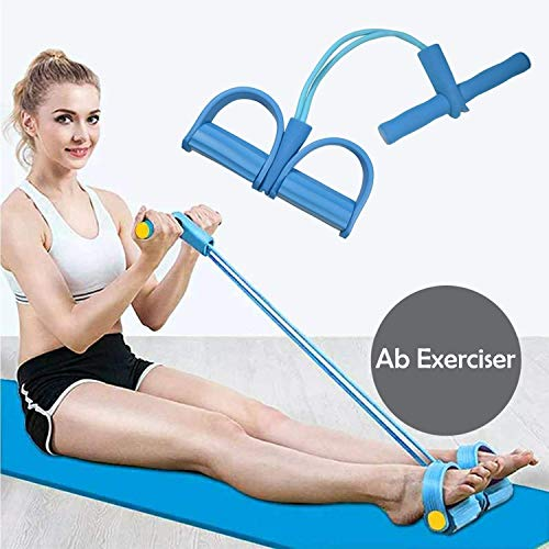 Cartshopper Multifunctional 2 Tubes Latex Foot Elastic Pull Rope Expander Muscle Fitness Workout Pedal Sports Equipment Resistance Bands