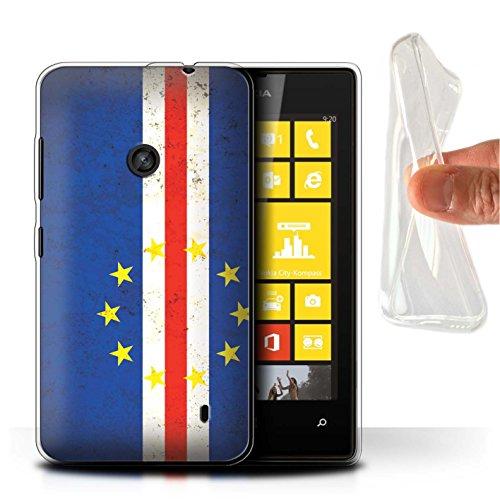Custodia/Cover/Caso/Cassa Gel/TPU/Prottetiva STUFF4 stampata con il disegno America Africano per Nokia Lumia 520 - Capo Verde