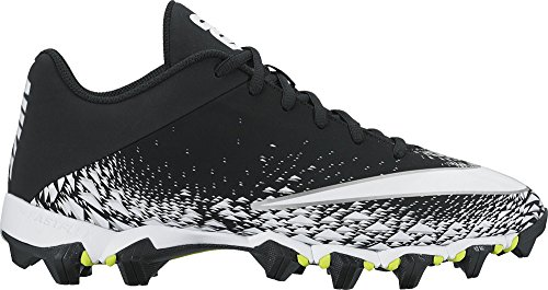 Nike Men's Vapor Shark 2 Football Cleat Black/White/Metallic Silver Size 11.5 M US