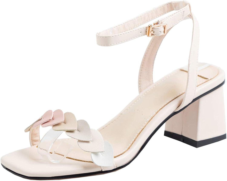 Artfaerie Womens Open Toe Slingback Block High Heel Sandals