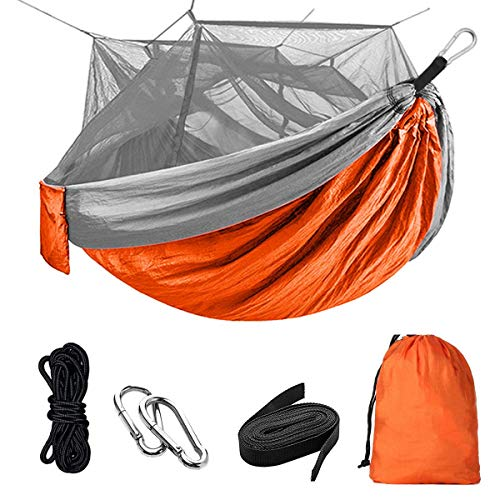 nobranded Camping Hammock with Mosquito Net Single amp Double Hammock Bug Net Lightweight Nylon Portable Hammock for CampingBackpackingSurvivalTravel amp More