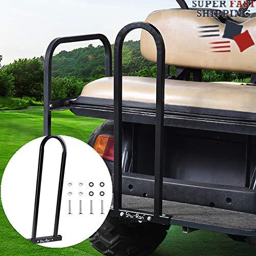 Big Times Universal Golf Cart Rear Seat Grab Bar Safty Hand Rail Grab Bar for Golf Cart Club Car EZGO Yamaha 76x 30x2.5cm Black
