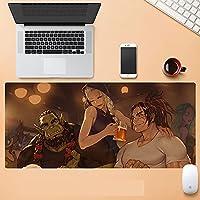 World of Warcraft大型マウスパッド 拡張スピード ゲームマウスパッド フライ ドラゴン マウスパッド ゲーマー オフィス コンピューター マウスマット (900X400X3MM)-B_900*400*3MM