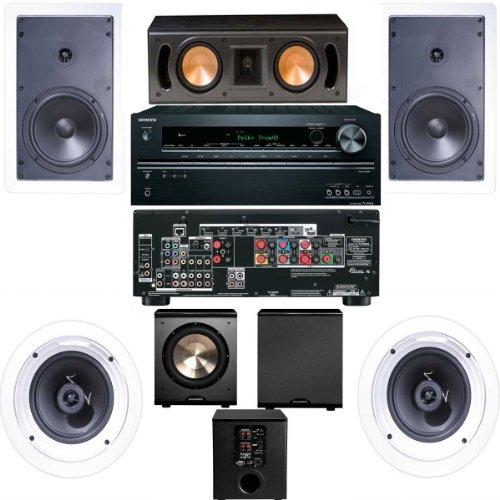 Best Price Klipsch R-1650-W In Wall #1 (RC-42II) 5.1 System-Onkyo TX-NR626 7.2-FREE PL-200