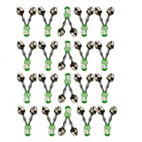 HiBD Juego de 20 campanas de pesca con clip en espiral