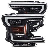 AlphaRex Black NOVA-Series Full LED Projector Headlights fits 2018-2020 Ford F-150