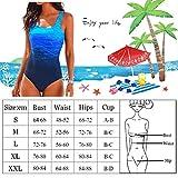 DURINM Bañador Mujer Sexy Trajes de baño de Una Pieza Bañador Flores Halter con Espalda Vendaje Monokini Verano Vacaciones Playa