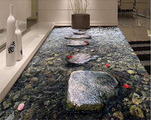 Pintura personalizada 3d piedra autoadhesiva corriente de agua 3D decorativo baño baldosas sala de estar 450x300cm