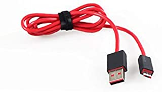 Professional Earphone USB Charging Cable Cord Charger Cable for Studio 2.0 Wireless Headphones Red