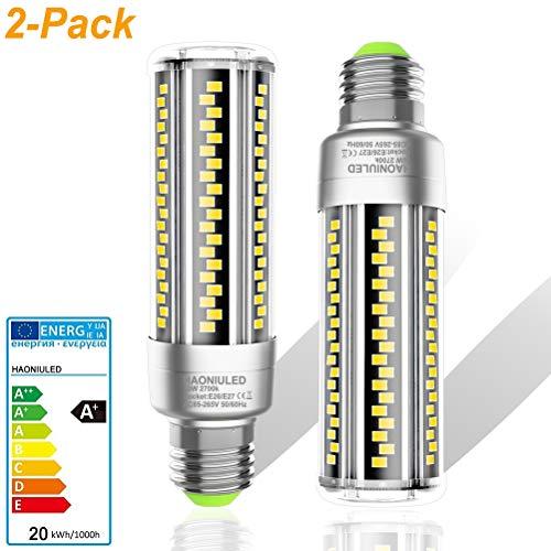 Lampadina LED E27 Luce Bianca Calda 20W Equivalenti a 200W Incandescenza, 2500LM 2700K Lampadine Led Mais Lampada Lampadina E27 Led Mais Pannocchia Non Dimmerabile, 2 Pezzi
