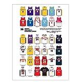 Kobe Colección de ropa de baloncesto Carteles antiguos Bar Café Decoración Lámina Pintura Retro Baloncesto Deportes Decoración de pared 40x60cm Sin Marco