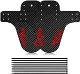 AIlysa 2 Piezas Guardabarros MTB, Guardabarros Bicicleta Montaña, Juego de Guardabarros, Mudguard Bici Delantero y Trasero Compatible 16', 20', 26', 27.5', 29' Fat Bike (Rojo)