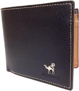 CLASSIC LEATHER WALLET for Men محفظة جلدية للرجال - Slim Bifold Mens Wallets Black – x8 Credit Card Holder +1 ID Card Wind...