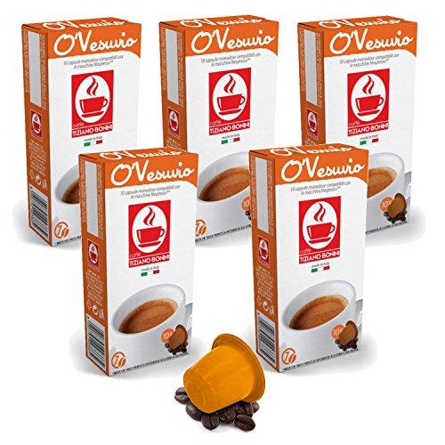 Bonini Kaffeekapseln, O'Vesuvio - Nespresso kompatibel - 5er-Pack (5 x 10 Kapseln)
