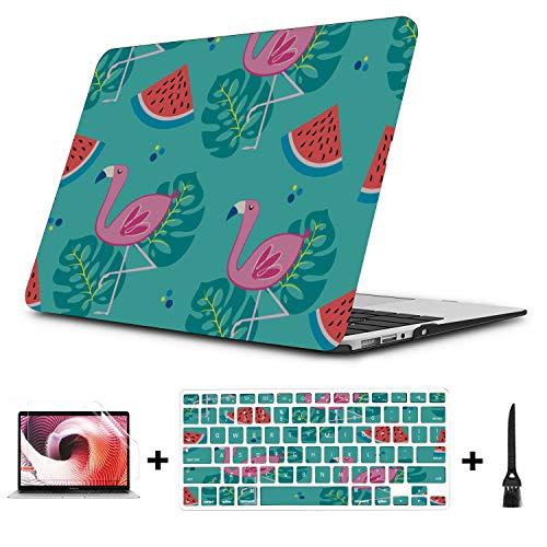Macbook Air Protective Cover Fashion Beautiful Fruit Watermelon Plastic Hard Shell Compatible Mac Air 11' Pro 13' 15' Macbook Pro 15in Case Protection For Macbook 2016-2019 Version