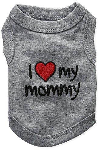 Wilk Hundekleidung I Love Mommy, Gr. S, Grau
