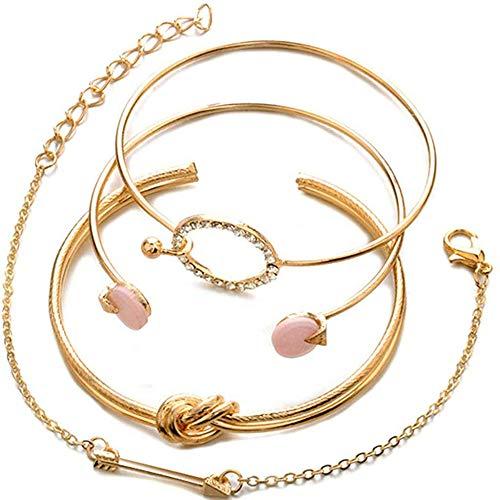 GDSKL Bracelets Bracelet Anklet Pendant Elasticity Sparkling Women Her Crystal Zirconia Diamond Rivet Gift Necklace Stunning/Gold Color / 16.5cm+5cm
