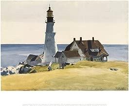 Lighthouse and Buildings, Portland Head, Cape Elizabeth, Maine, c.1927 Art Print Landscape Art Poster Print by Edward Hopper, 14x11