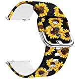 Ekezon Compatible with Samsung Galaxy Watch 46mm Bands, Gear S3 Frontier / Classic Watch Bands, Galaxy Watch 3 Bands 45mm, 22mm Silicone Bands Bracelet Sports Strap for Gear 2 Watch (22mm, Sunflower)