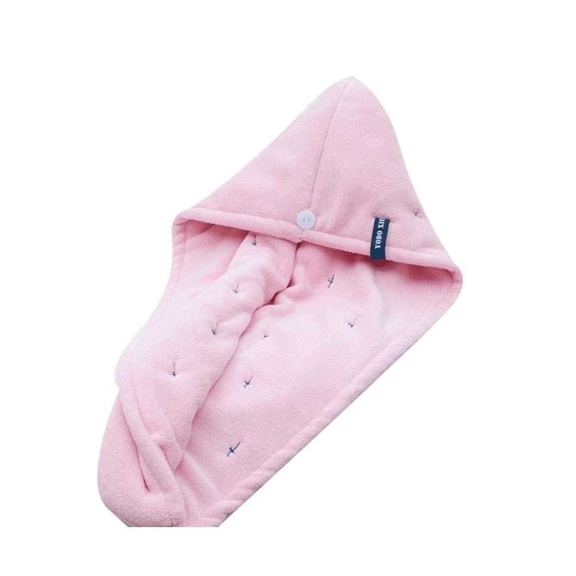資本主義初心者課すTYLDZ シャワーキャップ、コットンドライヘアーキャップ、ロングヘアフード付きシャワーキャップ、シャンプーや速乾性シャワーキャップ、2層超厚手のスタイルから選択する色のAバラエティ (Color : Pink)
