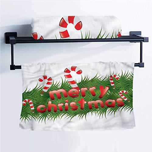Christmas Essesntials Washcloths Dinner Bistro Restaurant Candy Canes Garland 20' W x 40' L