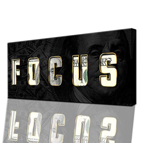 FOCUS-Wandbild für Erfolg & Motivation - Modernes Business-Leinwand Bild für Büro, Home-Office, Wohnzimmer (100 X 50 CM)