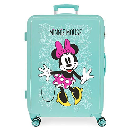 Disney Mickey Enjoy the Day Oh Boy Beige Beige Hard side Carry-on Suitcase,Luggage,37.0 liters,55 cm,White