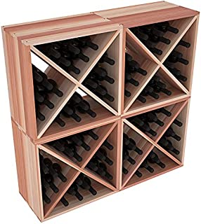 Wine Racks America Redwood 96 Bottle Wine Cube. Unstained