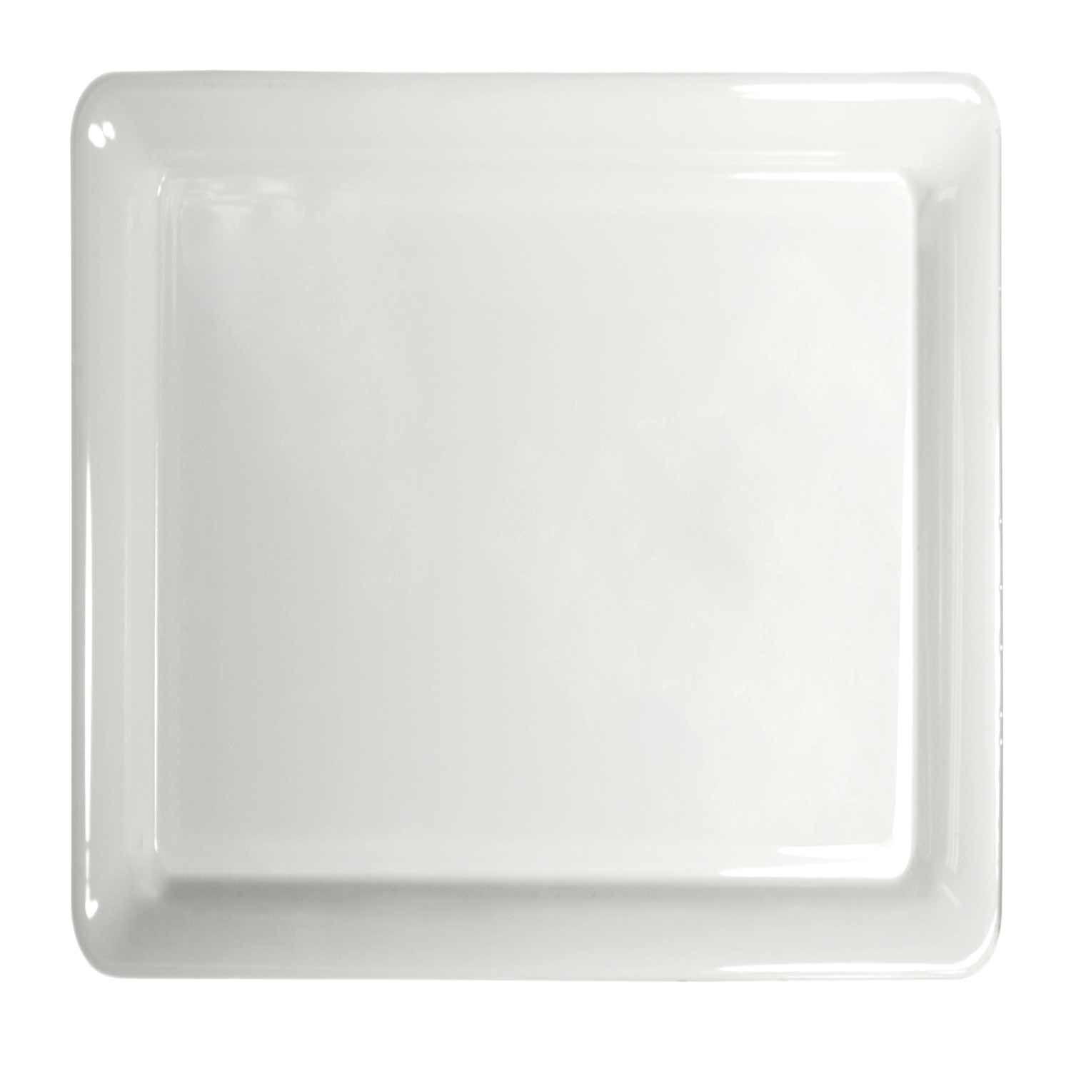 Party Essentials N161604 Heavy Duty Plastic Square Tray, 16