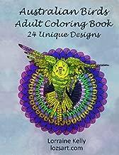Australian Birds Adult Coloring Book: 24 Unique Designs