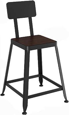Superb Amazon Com Nwn Solid Wood Barstools Nordic Wrought Iron Bar Customarchery Wood Chair Design Ideas Customarcherynet
