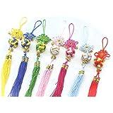 つるし飾り(繍球)中国雑貨 中華風飾り物 節日飾り 縁起のいい縁起物 (青)