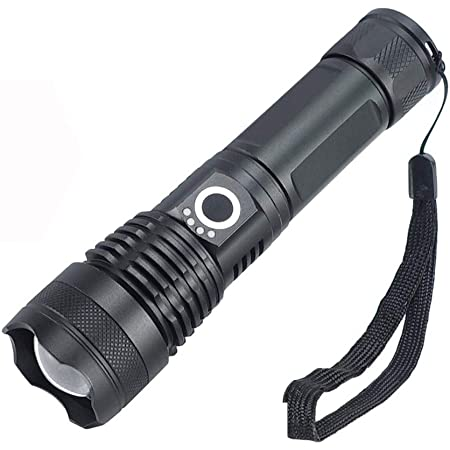 Rechargeable LED Flashlight,High Lumen Tactical Flashlight,5 Modes Zoomable,Wate