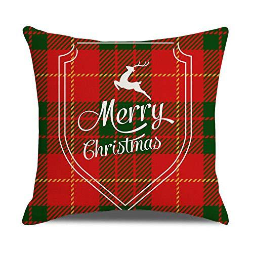 primrosely Funda de cojín de Navidad de 45 a 45 cm, transpirable, antideslizante, antimanchas, lavable a máquina, tejido de poliéster ligero