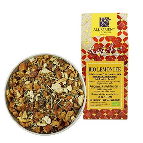 All Orient BIO Lemontee   100g   Früchtetee lose   Naturbelassen   Ohne Zusatz von Aromen   Zitronentee   Früchtetee mit Zitronengeschmack