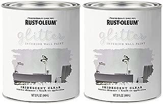 Rust-Oleum 323860 Glitter Interior Wall Paint Iridescent Clear 32oz 2PK