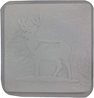 Deer Standing Square Stepping Stone Concrete or Plaster Mold 1290
