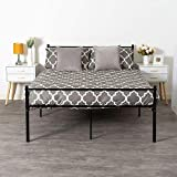 Home Treats 4ft 6 Solid Metal Black Finish <span class='highlight'>Double</span> <span class='highlight'>Bed</span> Frame <span class='highlight'>Bed</span>room Furniture With Headboard and Foodboard, Adult, Kids and Children with <span class='highlight'>Base</span> Storage Space Easy Assembly 190x135cm